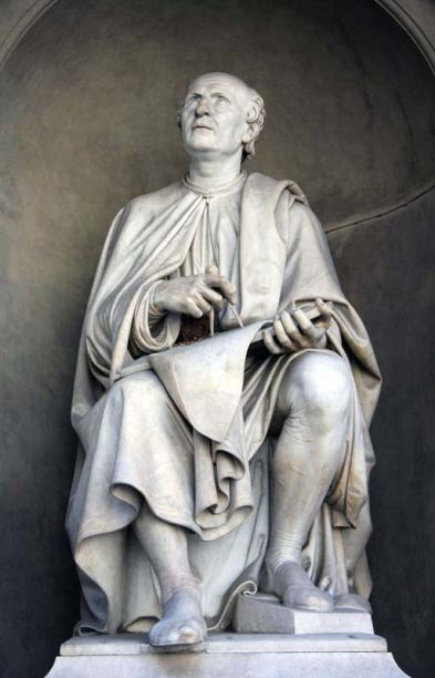Filippo-Brunelleschi-statue-Luigi-Pampaloni-Florence-Duomo-1830